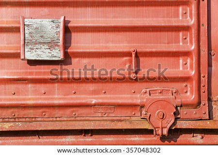 railroad boxcar closeup abstract background
