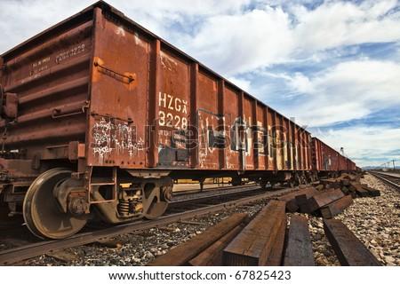 Railroad Cars - stock photo