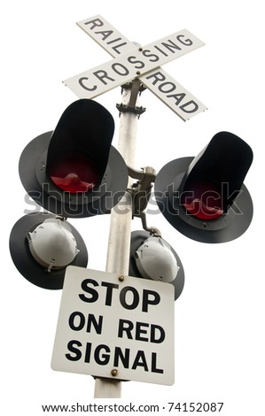 Railroad Crossing - stock photo