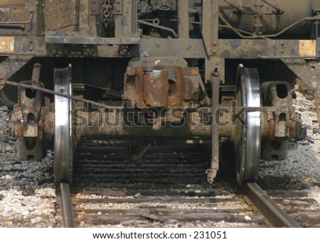 Railroad hopper car. - stock photo