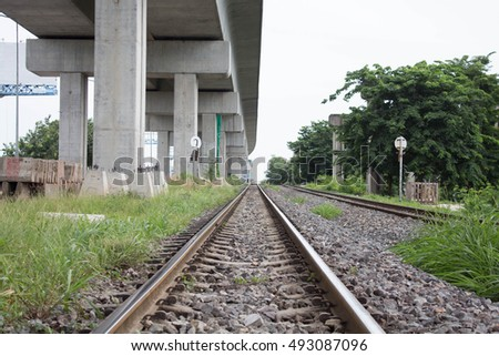 railroad track in the Thailand