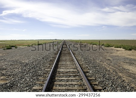 Railroad tracks outside of Stratford Texas.