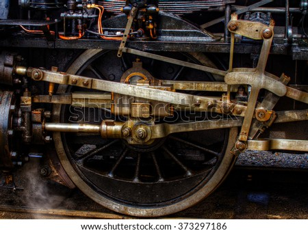 Railroad Wheel - stock photo