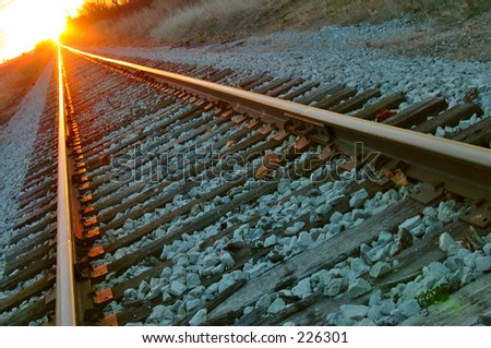 Railrod Tracks - stock photo