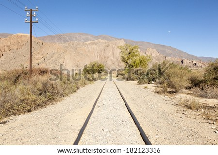 Rails in the North of Argentina - stock photo