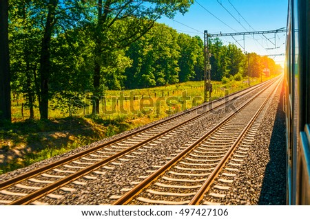 Railway and commuter train