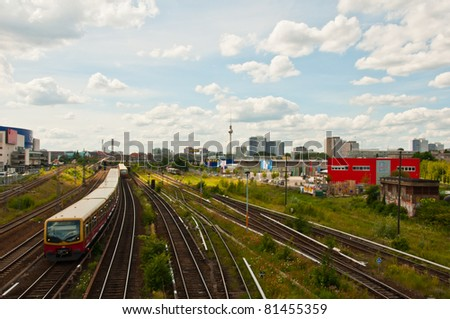 Railway and Trains in Berlin, Germany - stock photo