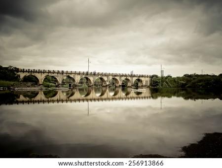 Railway Bridge Taken in Kwa-Zulu Natal, South Africa. - stock photo