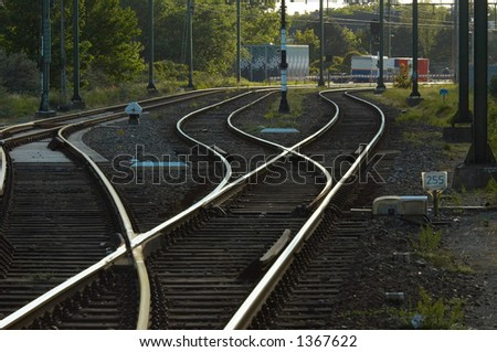 Railway in the netherlands - stock photo