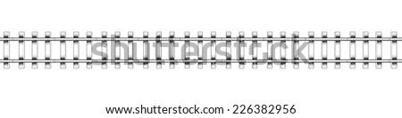 railway. isolated on white background. 3d - stock photo