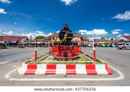 Railway locomotive Phitsanulok, Thailand. - stock photo