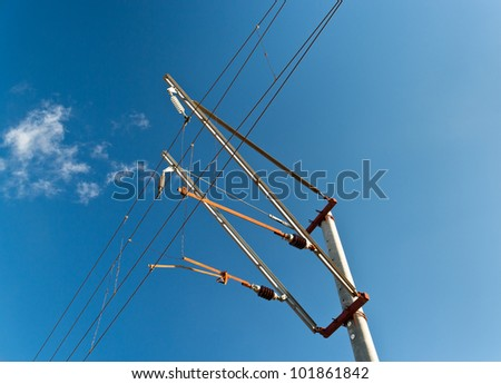 Railway overhead contact system 25 kV 50 Hz