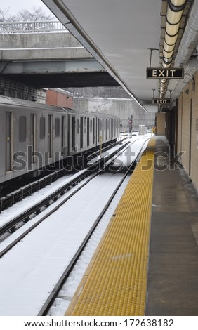 Railway platform - stock photo