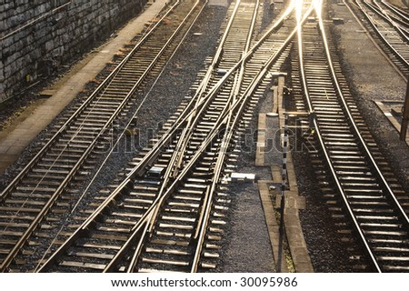 Railway´s picture from Europe. - stock photo
