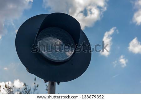 railway semaphore - stock photo