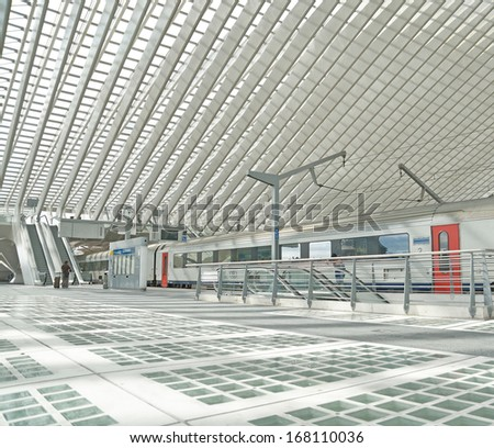 Railway Station ,Hungary,Eastern Europe. - stock photo