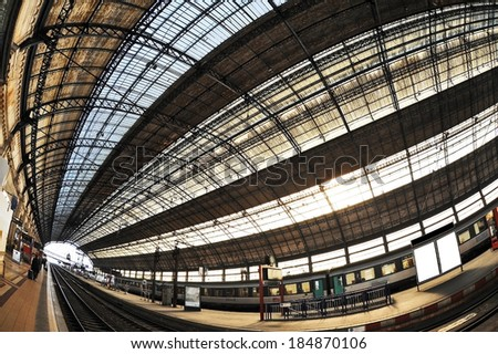 Railway station in BORDEAUX, FRANCE  - stock photo