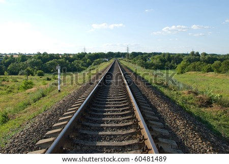 Railway stretches into the distance