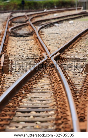 Railway system - stock photo