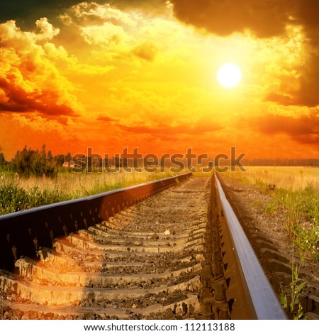 Railway to the sunset