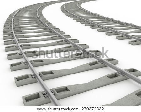 Railway track lines  Raster  iron 8 - stock photo