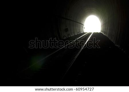 Railway tunnels. - stock photo
