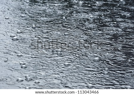 rain background - stock photo