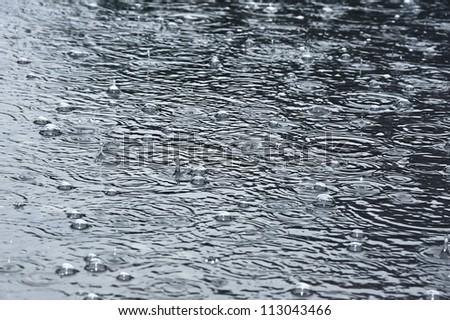rain background - stock photo