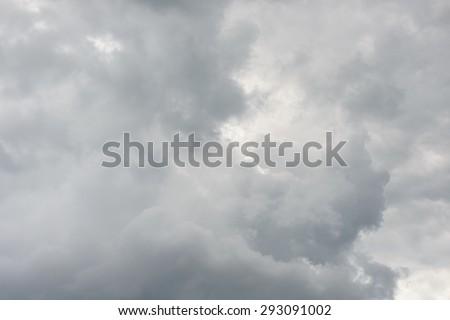 Rain clouds background - stock photo