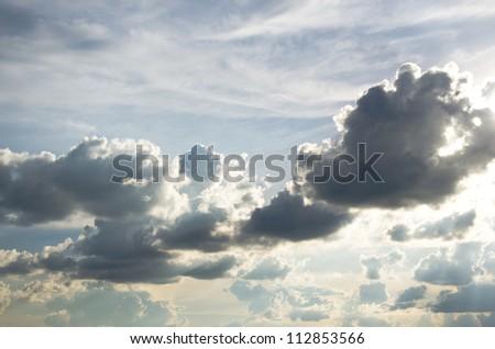 rain clouds in sky , cloudscape - stock photo