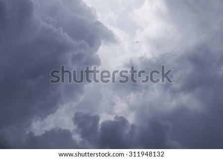 Rain clouds, nimbus - stock photo