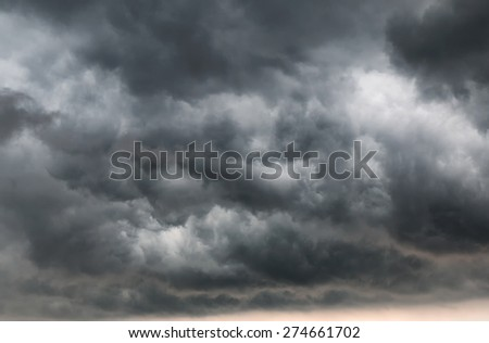 Rain clouds on the sky - stock photo