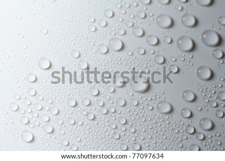 Rain drop on white background - stock photo