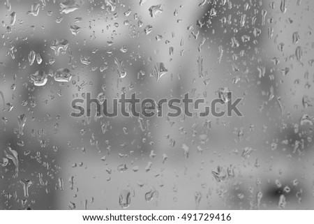 Rain drops on glass,Drops on glass background