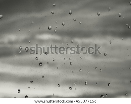 Rain drops on glass minimalism abstract water black white weather depression