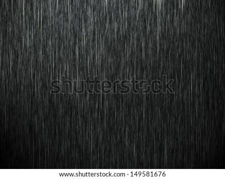 Rain on black. Abstract background - stock photo