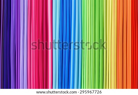 Rainbow abctract line texture, colorful background - stock photo