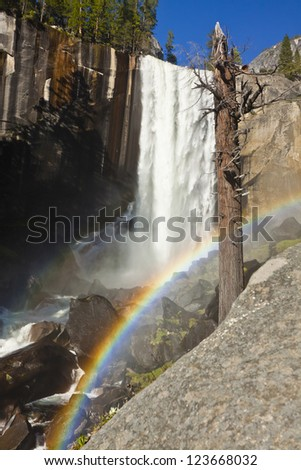 Rainbow and Vernal Falls of Yosemite National Park