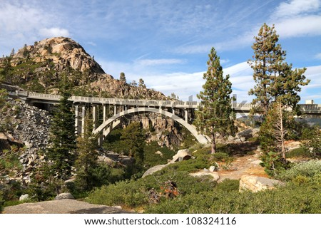 Rainbow Bridge, Truckee, California - stock photo