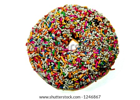 rainbow chocolate donut