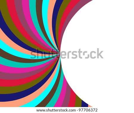 Rainbow Colored Fan and Half Circle Background