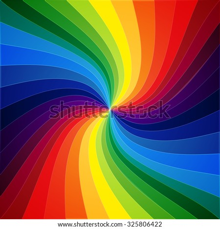 Rainbow colorful warped stripes background