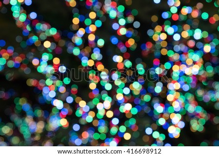 Rainbow colors bokeh illuminated - stock photo
