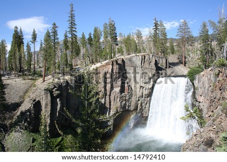 Rainbow Falls at Mammoth Lakes, CA - stock photo