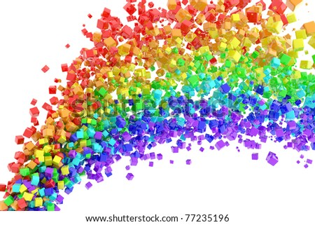 Rainbow flow - stock photo