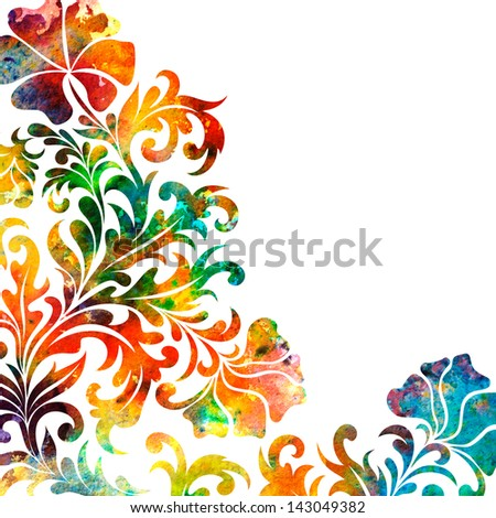 Rainbow flower card