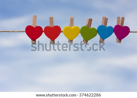 rainbow heart against the sky. LGBT ((Lesbian, Gay, Bisexual, Transgender)symbol,	 	