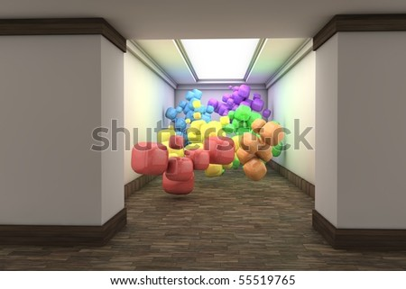 Rainbow in the Hall - stock photo