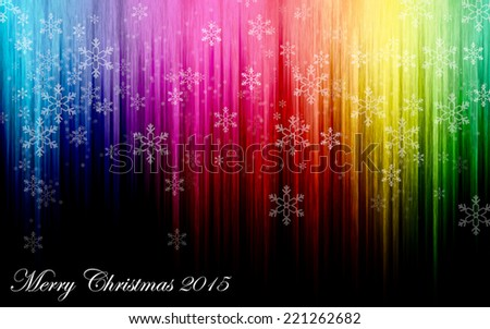 Rainbow line with Snow Bokeh background for Christmas  - stock photo