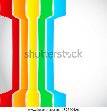 Rainbow lines background. Additional format